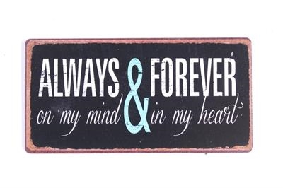 """Magnet 5x10 cm - """"Always and forever...."""""""
